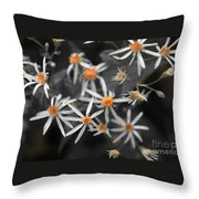 Pedals And Pollen Throw Pillow