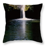 Pedernales Twin Falls-vpan Throw Pillow