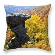 Pedestal Rock Throw Pillow