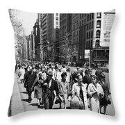 Pedestrians In New York Throw Pillow