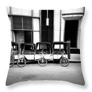 Pedicab Nyc Throw Pillow