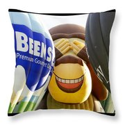 Peek A Boo Balloons Throw Pillow