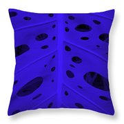 Peek-a-boo Leaf In Purple Throw Pillow