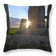 Peek-a-boo Sun At Stonehenge Throw Pillow