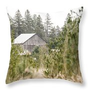 Peek At Our Farm Throw Pillow