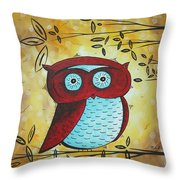 Peekaboo By Madart Throw Pillow by Megan Duncanson