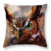 Peeking Owl Throw Pillow