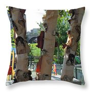 Peeling Bark Throw Pillow