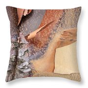 Peeling Bark - Horizontal Throw Pillow
