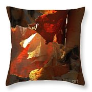 Peeling Off The Layers Throw Pillow