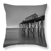 Peering Through The Clouds Bw Throw Pillow