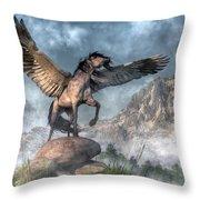 Pegasus Throw Pillow by Daniel Eskridge