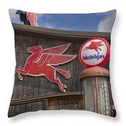 Pegasus And Mobilgas Throw Pillow
