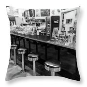 Peggy Sues Americana Route 66 Inspired Throw Pillow