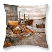 Peggy's Cove 17b Hue Throw Pillow