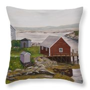 Peggy's Cove Throw Pillow