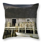 Peggys Cove Fishing Village Throw Pillow