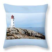 Peggy's Cove Light II Throw Pillow