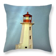 Peggy's Cove Lighthouse 2 Throw Pillow
