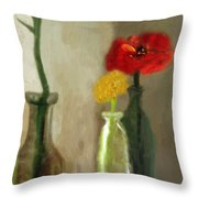 Peggy's Flowers Throw Pillow