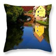 Pegnitz River In Nuremberg Throw Pillow