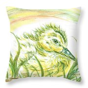 Pekin Duckling Throw Pillow