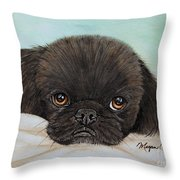 Buddy The Pekingese Throw Pillow