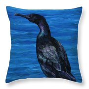 Pelagic Cormorant Throw Pillow