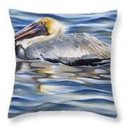 Pelican At Cedar Point Throw Pillow