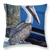 Pelican Blues Throw Pillow