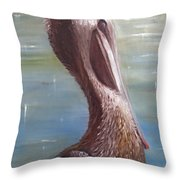 Pelican Brief Throw Pillow by Sharon Burger