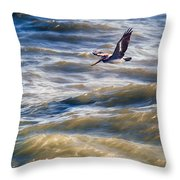 Pelican Briefly Throw Pillow