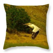 Pelican Buzz By Throw Pillow