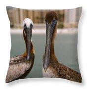 Pelican Couple Throw Pillow
