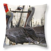 Pelican Duo Throw Pillow