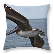 Pelican Fly By Throw Pillow