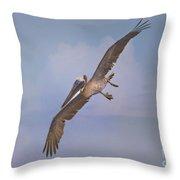 Pelican Grace In Flight Throw Pillow
