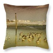 Pelican Haven Throw Pillow