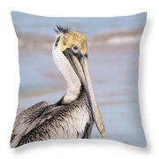 Pelican In Need Throw Pillow