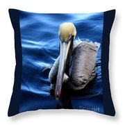 Pelican In The Bay Throw Pillow