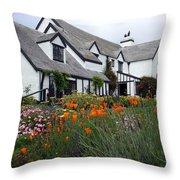 Pelican Inn Garden Throw Pillow