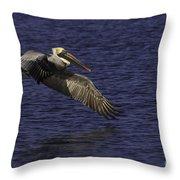 Pelican Over Water Throw Pillow