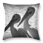 Pelican Pals Throw Pillow