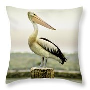 Pelican Poise Throw Pillow