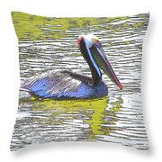 Pelican Reflections Throw Pillow