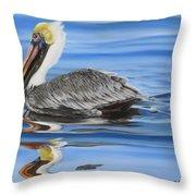 Pelican Ripples Throw Pillow