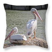 Pelicans By The Pair Throw Pillow