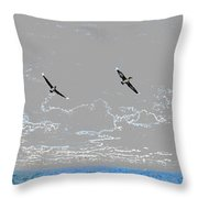 Pelicans Sky Throw Pillow