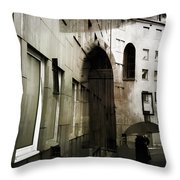 Pelted Streets  Throw Pillow