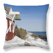 Pemaquid Point Bell House On The Maine Coast Throw Pillow